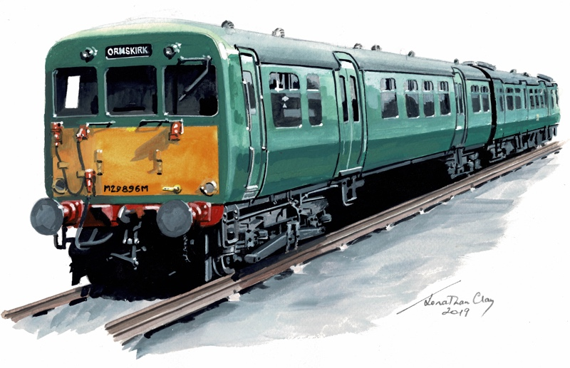 Illustration of Class 502 showing ORMSKIRK on destination